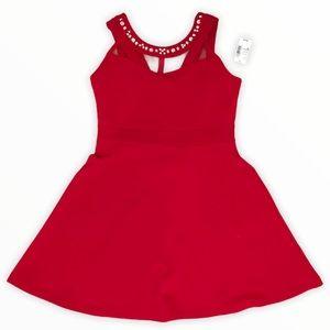 CHILDREN'S PLACE   Red Dress with Gem Neckline